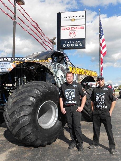Truck displays for sponsor